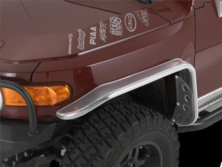 Toyota Fj Cruiser Tube Fender Flares Front Raw