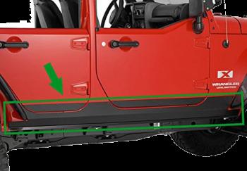 Jeep JKU Under Door Sideplates w/o Cutout (4 Door)