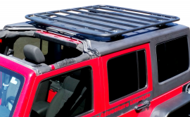 "Jeep Wrangler Hard Top Platform Rack Kit (4"" Tall Mounts)"