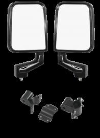 Jeep CJ/Wrangler Warrior Tube Door Mirror Mount Kit w/ Mirrors