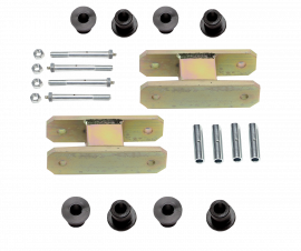 """Heavy Duty Greasable Leaf Spring Shackle Kit (1-1/2"""" Lift)"""