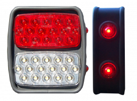 Jeep CJ/YJ/TJ/LJ Steel LED Tail Light Kit