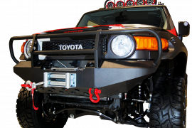Toyota FJ Cruiser Front Winch Bumper w/ Brush Guard & D-Ring Mounts