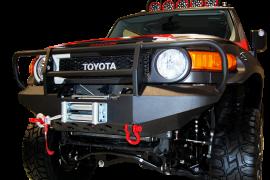 Toyota FJ Cruiser Front Winch Bumper w/ Brush Guard & D-Ring Mounts
