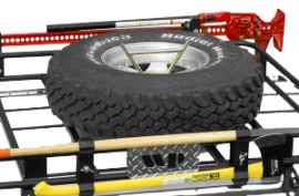 Toyota FJ Cruiser Tire Mount for Drop-In Cargo Basket