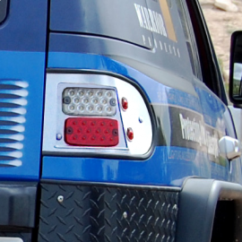 Toyota FJ Cruiser Steel LED Tail Lights- Uncoated