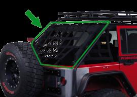 Jeep JKU Rear Cage Netting