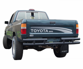 "Toyota Pickup Double Tube Rear Bumper w/ 2"" Recevier"