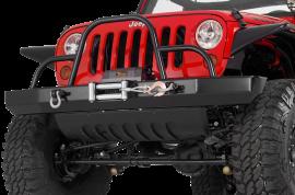 Jeep JK / JKU Rock Crawler Front Winch Bumper w/ Brush Guard & D-Ring Mounts