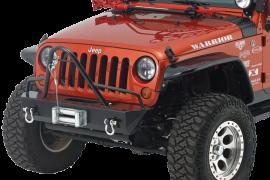 Jeep JK/JKU Stubby Front Winch Bumper w/ Stinger Brushguard