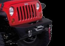 Jeep JK / JKU Stubby Rock Crawler Front Winch Bumper w/ D-Ring Mounts