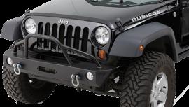 Jeep JK/JKU Mid-Width Front Winch Bumper w/ Pre-Runner Brushguard