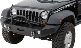Jeep JK/JKU Full Width Front Winch Bumper w/ Pre-Runner Brushguard