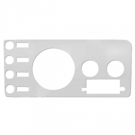 Jeep CJ5/CJ7/CJ8 Dash Panel Overlay w/ Radio Cutout