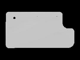 CJ7 INNER DOOR PANEL IN BRUSHED ALUMINUM