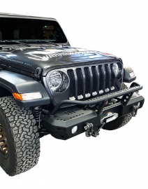 Jeep JL / JLU MOD Series Mid-Width Bumper with Brush Guard