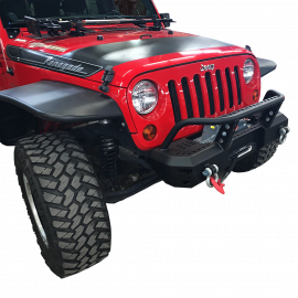 Jeep JK / JKU MOD Series Front Stubby Bumper with Brush Guard
