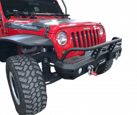 Jeep JK / JKU MOD Series Front Mid-Width Bumper with Brush Guard