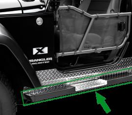 Jeep JKU Rock Bars w/ Diamond Tread Steps