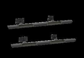 Jeep JKU Rock Bars w/ Diamond Tread Steps (Black)