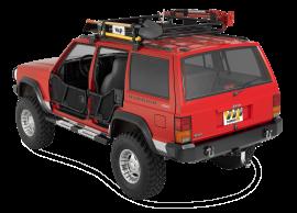 Jeep XJ Rock Bars w/ Diamond Tread Steps