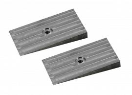 """Machined Steel Shims for 3"""" Wide Leaf Springs (6 Degrees)"""