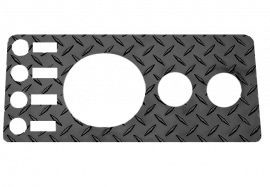 Jeep CJ5/CJ7/CJ8 Dash Panel Overlay w/o Radio Cutout