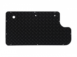 Inner Door Panel in Black Diamond Plate