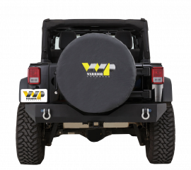 "BLACK WP SPARE TIRE COVER (28"" TIRE)"
