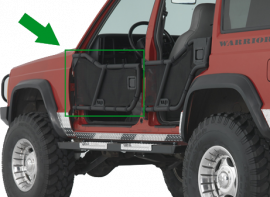 Jeep XJ Front Adventure Tube Doors (Late Model)