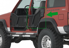 Jeep XJ Rear Adventure Tube Doors (Late Model)