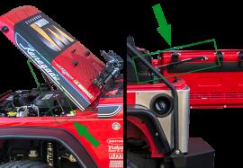Jeep Wrangler JK / JKU HoodLift & Tailgate Strut Combo Kit (OEM Hood)