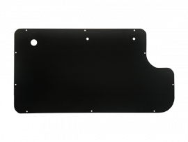 Inner Door Panel in Smooth Black Steel