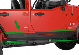 Jeep JKU Under Door Sideplates w/o Cutout (4 Door)