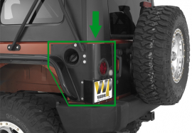 Jeep JK Rear LED Corners (2 Door)