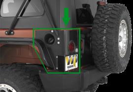 Jeep JK Rear LED Corners (2 Door)